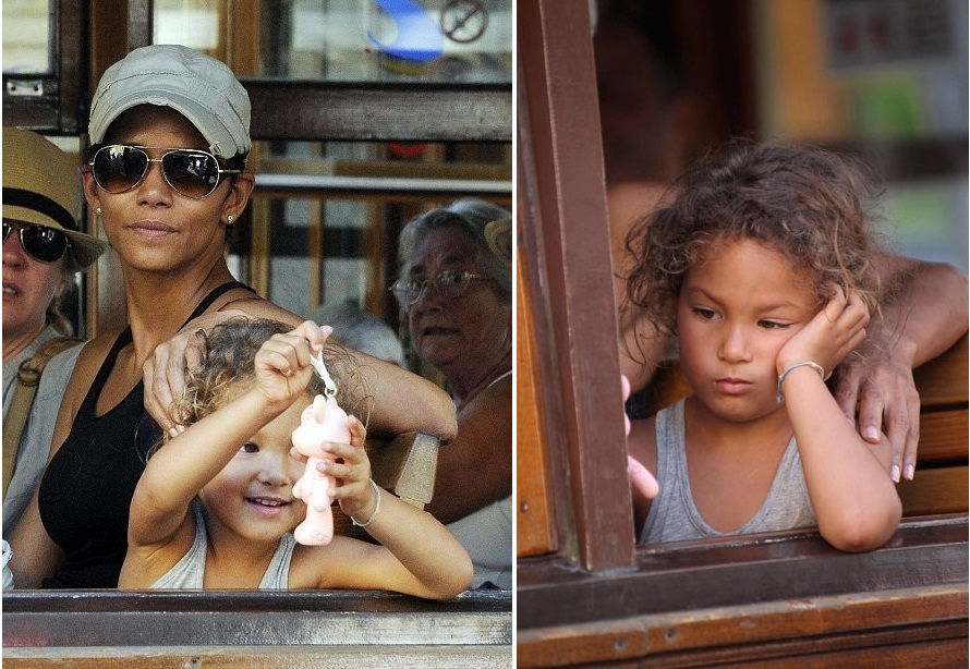 Nahla Aubry with her mother Halle Berry